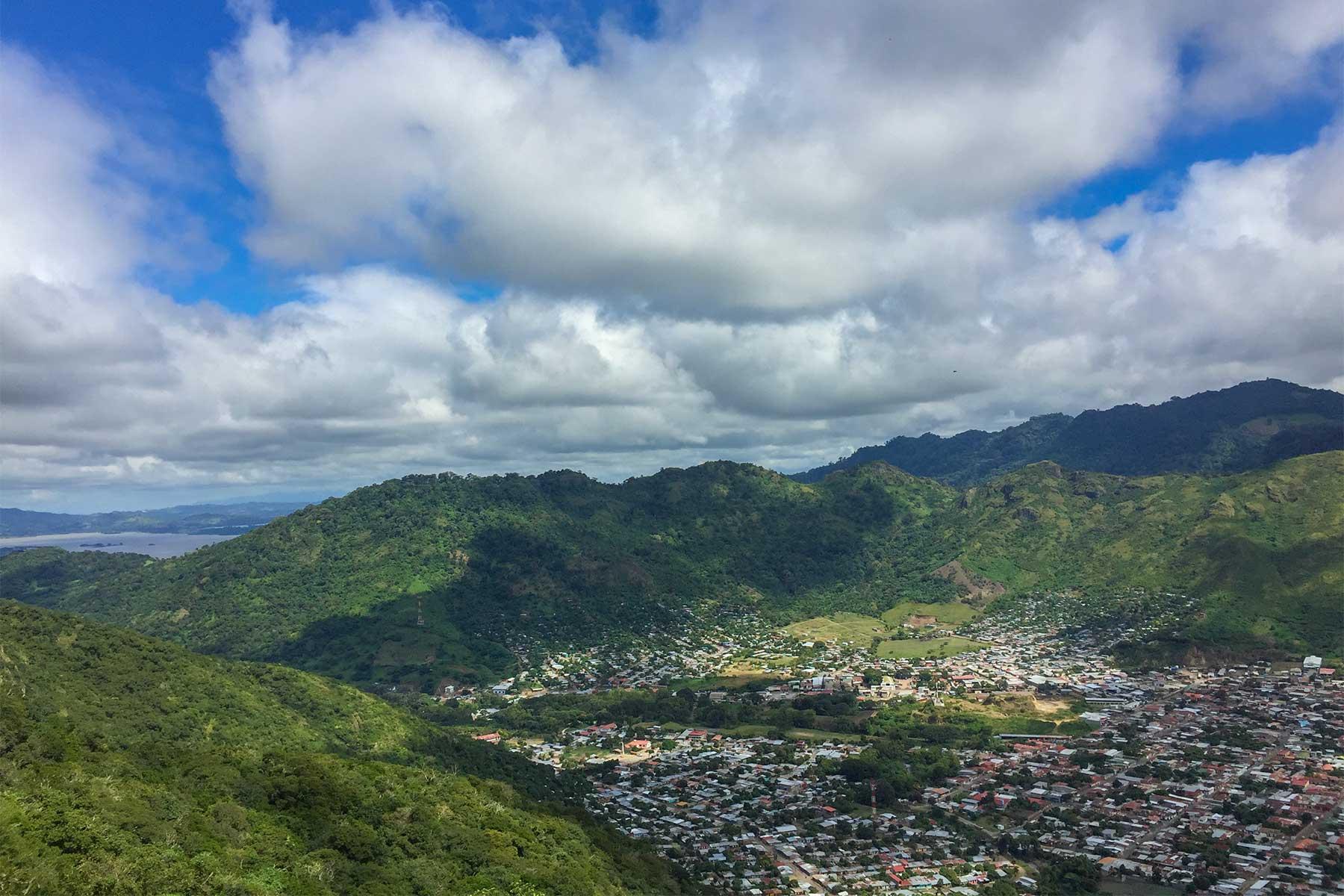 Panorámica desde cerro de La Cruz, Jinotega